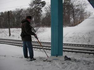 Обследование путепровода через железную дорогу на трассе Р 158 (Пензенская обл.)