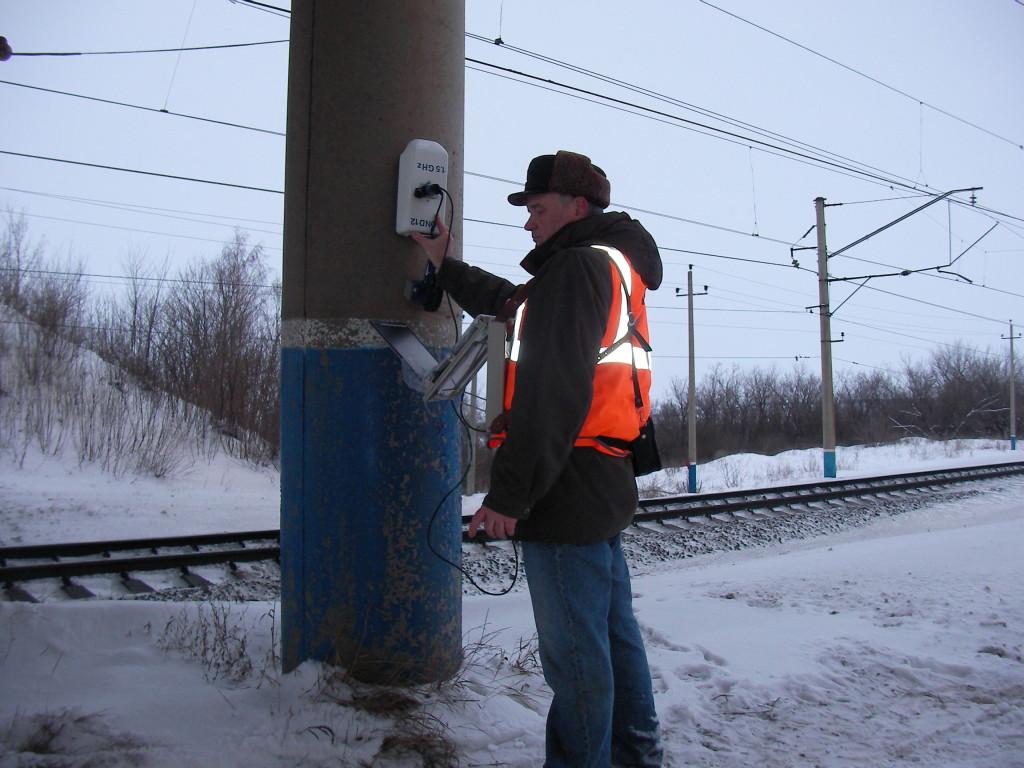 Обследование стоек опор путепровода через железную дорогу на трассе Р 239 (Оренбургская обл.)